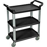 Black, Utility / Service Cart, Light Duty, 200 Lbs. Capacity