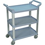 Gray, Utility / Service Cart, Light Duty, 200 Lbs. Capacity
