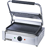 "Stainless Steel Panini Press, 13.25"" X 9.25"" Flat Griddle Plates"