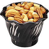 Black, 5 Oz. Polycarbonate Swirl Bowl, 24/PK