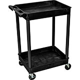 Black, Tub Utility Cart, 2 Shelves