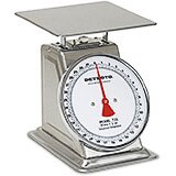 "Stainless Steel, 8"" Dial Analog Scale, 32 Oz"