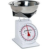 "White, Enamel 8"" Dial Analog Scale, Dual Reading, 25 Kg / 55 Lb."