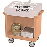 Coffee Beige, Tray and Dish Cart, Cart Only
