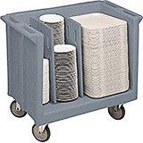 Granite Gray, Adjustable Tray and Dish Cart