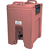 Brick Red, 10.5 Gal. Insulated Beverage Dispenser, Ultra Camtainer