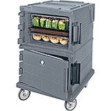 Granite Gray, Double Compartment, Insulated Food Carrier, 16-Pan Capacity