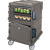 Granite Sand, Double Compartment, Insulated Food Carrier, 16-Pan Capacity