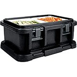 "Black, Insulated Food Carrier for 6"" Deep Pans"