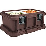 "Dark Brown, Insulated Food Carrier for 6"" Deep Pans"