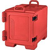 Hot Red, Insulated Front Loading Food Carrier, Full Size Pans