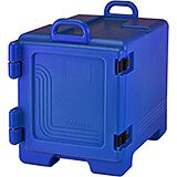 Navy Blue, Insulated Front Loading Food Carrier, Full Size Pans
