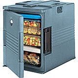 Slate Blue, Ultra Insulated Food Carrier, No Casters