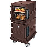 Dark Brown, Double Compartment, Insulated Food Carrier, 8-Pan Capacity