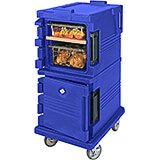 Navy Blue, Double Compartment, Insulated Food Carrier, 8-Pan Capacity