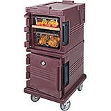 Brick Red, Double Compartment, Insulated Food Carrier, 8-Pan Capacity