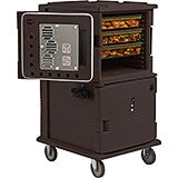 Dark Brown, H-Series Large 2-Compartment Electric Hot Box, 110V