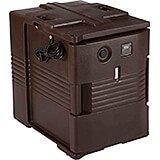 Dark Brown, H-Series Electric Hot Box, Food Carrier, 110V