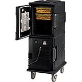 Black, H-Series 2-Compartment Electric Hot Box, 110V