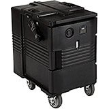 Black, Electric Hot Box, Food Carrier W/ Casters,110V