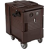Dark Brown, Electric Hot Box, Food Carrier W/ Casters,110V