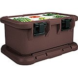 "Dark Brown, Insulated Food Carrier for 6"" Deep Pans, S-Series"