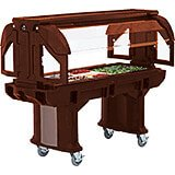 Bronze, 5 Ft. Portable Food / Salad Bar W/ Heavy Duty Casters