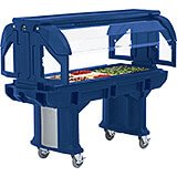Navy Blue, 6 Ft. Children Height Food Bar with Casters