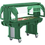 Green, 6 Ft. Portable Food / Salad Bar W/ Heavy Duty Casters