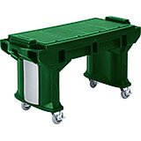 Green, 6 Ft. ADA Height Work / Prep Table W/ Heavy Duty Casters