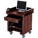 Bronze, Cash Register Stand / Cart, No Rails, Heavy Duty Casters