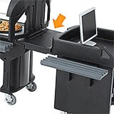 Black, Connector - Cart to Standard Height Bar/Table