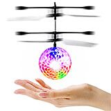 Clear, Plastic RC Toy Flying Ball, Infrared Induction Helicopter Ball with LED Lighting for Kids & Teenagers