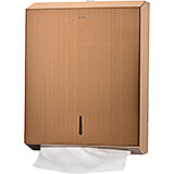 Copper, Stainless Steel C-Fold/Multifold Paper Towel Dispenser